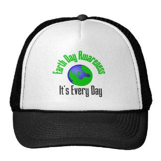 Conscience de jour de la terre chaque jour casquettes de camionneur