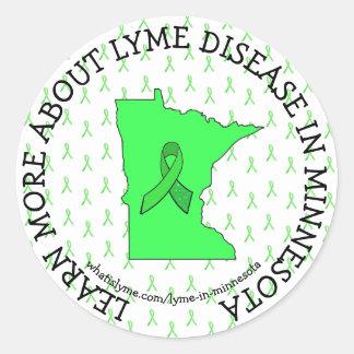Conscience de la maladie de Lyme dans des Sticker Rond