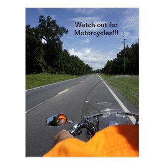 Conscience de moto carte postale