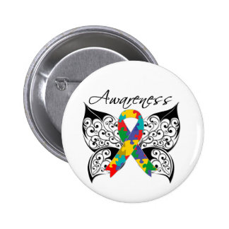 Conscience de papillon de tatouage - autisme badge