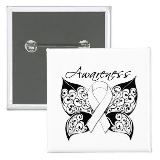 Conscience de papillon de tatouage - cancer de pou pin's avec agrafe