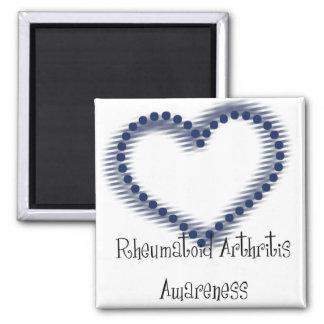 Conscience de rhumatisme articulaire de coeur poin magnet carré