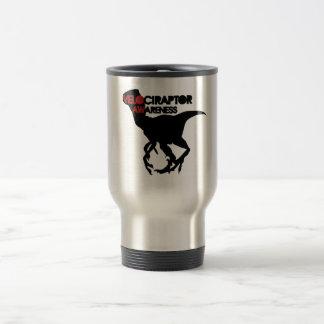 conscience de velociraptor mug de voyage