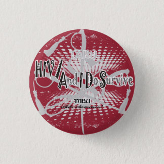 Conscience TABOUE 1 de HIV/Aids 1/4 bouton Badges