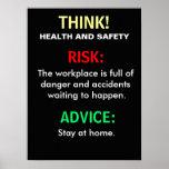 Conseil de santé et sécurité et signe drôles de bu posters