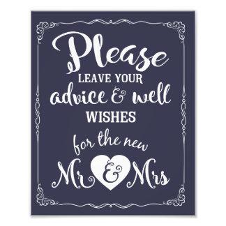 conseil et signe de mariage de partie de souhaits photos