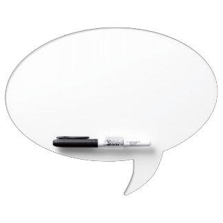 Conseil sec d'effacement de bulle ovale faite sur  tableaux effaçables blancs