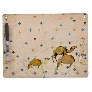 Conseil sec d'effacement de chameau rêveur vintage tableau blanc effaçable à sec