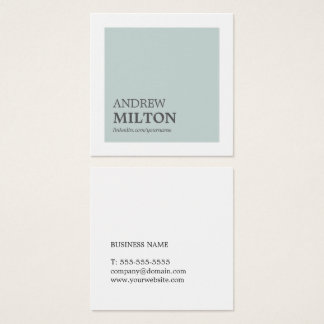 Conseiller blanc bleu élégant simple professionnel carte de visite carré