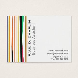 Conseiller commercial coloré de rayures   cartes de visite