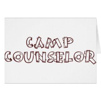 Conseiller de camp carte de vœux