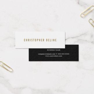 Conseiller élégant minimaliste élégant mini carte de visite