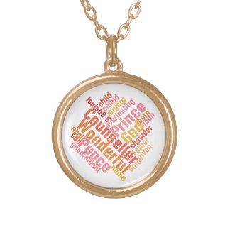 Conseiller merveilleux chrétien collier plaqué or