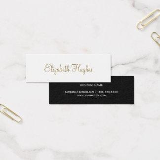 Conseiller minimaliste élégant chic professionnel mini carte de visite