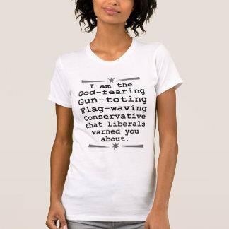 Conservateur de ondulation Toting de drapeau T-shirt