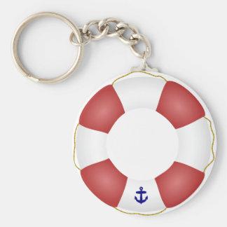 Conservateur de vie nautique porte-clé rond