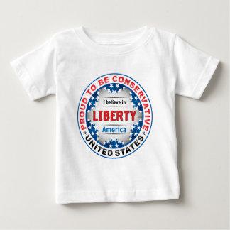 Conservateur fier t-shirt pour bébé