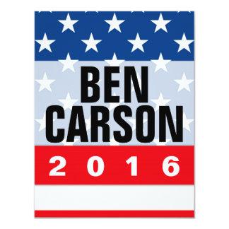 Conservateur politique de Ben Carson 2016 Carton D'invitation 10,79 Cm X 13,97 Cm