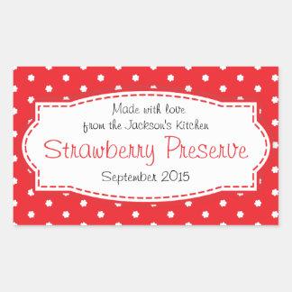 Conserve de fraise ou autocollant d'étiquette de