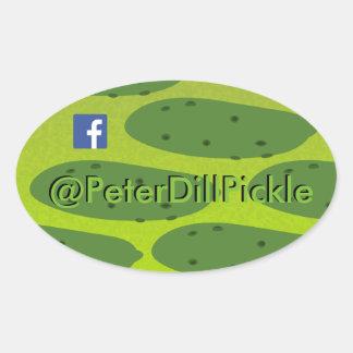 Conserves au vinaigre diluées ovales de Peter Sticker Ovale
