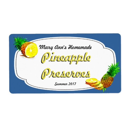 Conserves d'ananas mettant en boîte des étiquettes