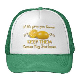 Conservez les citrons casquette