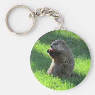 Consommation de Groundhog Porte-clé Rond