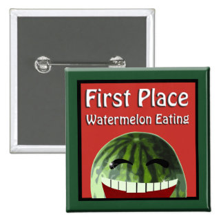Consommation de pastèque d'endroit de pique-nique badges