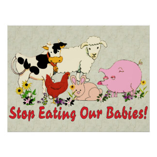 Consommation des bébés animaux affiches