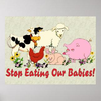 Consommation des bébés animaux posters