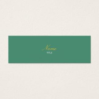 Consoude Elegante Mini Carte De Visite
