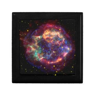 Constellation de Cassiopeia Petite Boîte À Bijoux Carrée