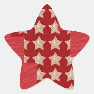 Constellation de GOLDSTAR sur le motif rouge Stickers En Étoile