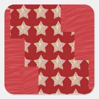Constellation de GOLDSTAR sur le motif rouge Sticker Carré