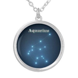 Constellation de Verseau Pendentif Rond
