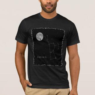 Constellation d'Orion avec la pleine lune T-shirt