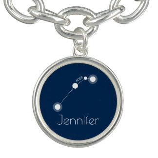 Constellation personnalisée de zodiaque de Bélier Bracelets Avec Breloques