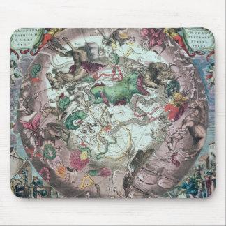 Constellations de l'hémisphère sud tapis de souris
