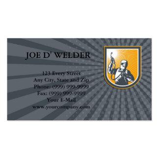 Constructeur de soudeuse de carte de visite carte de visite standard