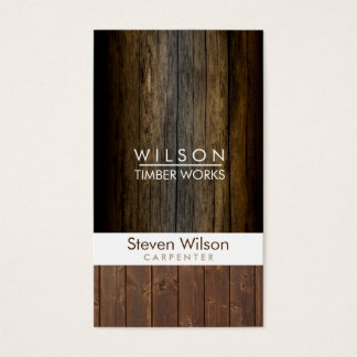 Constructeur en bois de boisage de construction de cartes de visite