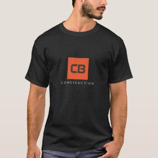 Construction carrée de monogramme d'orange, t-shirt