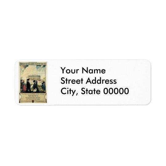 Construction de la première affiche de voyage de étiquette d'adresse retour