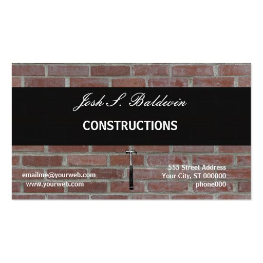 Construction simple de mur de briques de mordern carte de for Carte visite construction