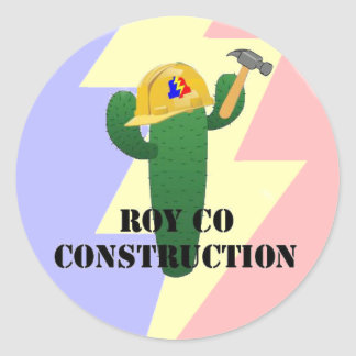 Construction de Royco Sticker Rond