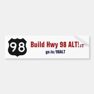 Construction Hwy 98 alt Autocollant De Voiture