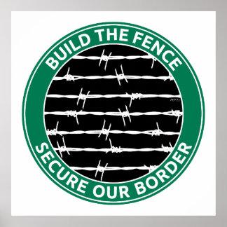 Construisez la barrière posters