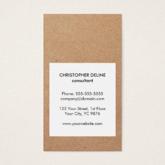 Consultant en matière frais moderne de blanc de cartes de visite