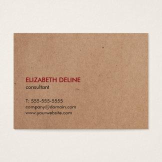 Consultant en matière imprimé élégant minimaliste cartes de visite