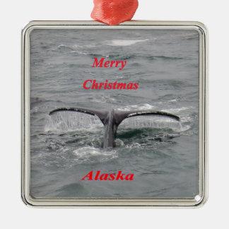 Conte de baleine ornement carré argenté