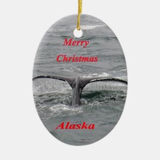 Conte de baleine ornement ovale en céramique